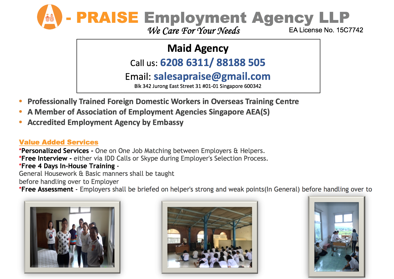 Apraise Employment Agency Ad 2